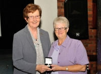 Bridie Maughan, LIPF winner of Novice Section, AV2014 with Lilian Webb, AIPF, Vice President, IPF.