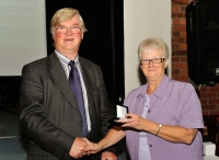 Edwin Bailey, LIPF, 2nd All Ireland, winner of Advanced & Audience Vote, AV2014 with Lilian Webb, AIPF, Vice President, IPF.