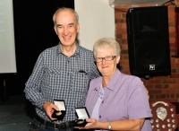 James Hamill, ARPS - winner of the All Ireland AV Competition & Audience Vote, with Lilian Webb, AIPF, Vice President