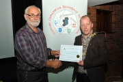 IPF President, Dom Reddin presenting an Honourable Mention Certificate to Dave Cooke