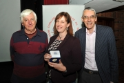 Judges Andrew Gagg & Richard Brown with Judith Kimber winner of the international section