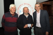 Judges Andrew Gagg & Richard Brown with Michael Linehan winner of the Intermediate Section & Audience vote
