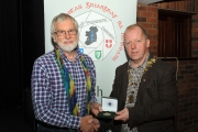 IPF President Dom Reddin presenting a Bronze Medal to Malcolm Imhoff