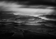 Honourable Mention Monochrome - George Balmer - Montalcino Stormy Morning - Offshoot Photographic Society