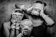 Monochrome Silver Medal - Girto Miko - Athlone Photography Club - Speak no evil, see no evil, hear no evil