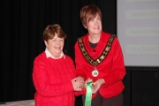 Rita Nolan, LIPF receiving a highly commended ribbon in the All Ireland competition NIPA AV 2017