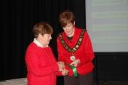 Rita Nolan receiving the best photography ribbon on behalf of Celbridge Camera Club at the Irish Open section of NIPA AV 2017.