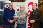 IPF President Michael O'Sullivan pictured with Michael Maher from competition sponsor Mahers Photographic and award winner Kieran O'Mahony