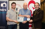 IPF President Michael O'Sullivan pictured with Michael Maher from competition sponsor Mahers Photographic and award winner Tadhg Hurley