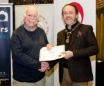 IPF President Michael O'Sullivan pictured with award winner Jack Malins