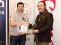 IPF President Michael O'Sullivan pictured Michael Maher from competition sponsors Mahers Photographic