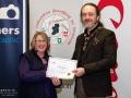 IPF President Michael O'Sullivan pictured with award winner Teresa Kavanagh
