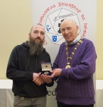 IPF Vice-President Sheamus O'Donoghue pictured with award winner Christopher Howes
