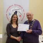 IPF Vice-President Sheamus O'Donoghue pictured with award winner Heather Rice