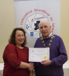 IPF Vice-President Sheamus O'Donoghue pictured with award winner Miriam Power