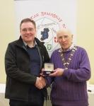 IPF Vice-President Sheamus O'Donoghue pictured with award winner Seamus Mulcahy