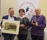 IPF Vice-President Sheamus O'Donoghue and IPF Co-ordinator Frank Condra pictured with overall winner Ita Martin along with her winning image