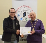 IPF Vice-President Sheamus O'Donoghue pictured with award winner Eddie Kelly