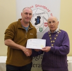 IPF Vice-President Sheamus O'Donoghue pictured with award winner Neil O'Reilly