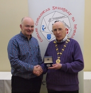 IPF Vice-President Sheamus O'Donoghue pictured with award winner Kevin Day