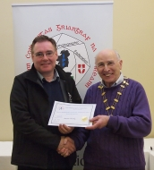 IPF Vice-President Sheamus O'Donoghue pictured with award winner Seamus Mulcahy