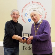 IPF Vice-President Sheamus O'Donoghue pictured with judge Mick Durham