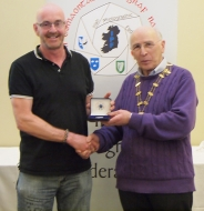 IPF Vice-President Sheamus O'Donoghue pictured with judge Phil Charnock