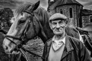 Mono Print Open - Advanced Honourable Mention - Graham Kelly - Farmer John - Mid-Louth Camera Club