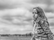 Mono Print Open - Non-Advanced Honourable Mention - Austin Crowe - Girl Sitting on a fence Not another photo - Celbridge Camera Club