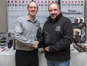 Paul Reidy IPF Photographer of the Year with Bermingham's Stand