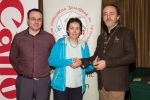 IPF President Michael O'Sullivan and Shane Cowley from Canon Ireland pictured with award winner Breda O'Mullane