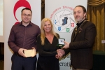 IPF President Michael O'Sullivan and Shane Cowley from Canon Ireland pictured with award winner Judy Boyle