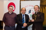 IPF President Michael O'Sullivan and Shane Cowley from Canon Ireland pictured with the judge Riccardo Busi