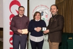 IPF President Michael O'Sullivan and Shane Cowley from Canon Ireland pictured with award winner Clodagh Tumilty