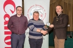 IPF President Michael O'Sullivan and Shane Cowley from Canon Ireland pictured with award winner Morgan O'Neill