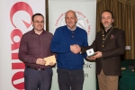 IPF President Michael O'Sullivan and Shane Cowley from Canon Ireland pictured with award winner Tadhg Hurley
