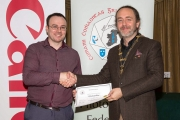Shane Cowley from Canon Ireland pictured with award winner Michael O'Sullivan