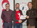 IPF President Michael O'Sullivan and Shane Cowley from Canon Ireland pictured with award winner Ken Browne