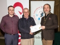 IPF President Michael O'Sullivan and Shane Cowley from Canon Ireland pictured with award winner Ned Mahon