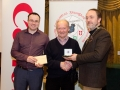 IPF President Michael O'Sullivan and Shane Cowley from Canon Ireland pictured with award winner Tony McIntyre