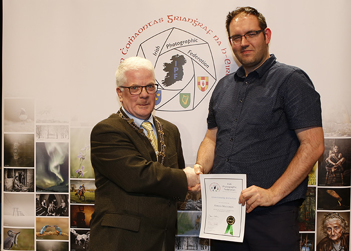 IPF-Vice-President-Liam-Beattie-presenting-Adrian-Materson-with-his-Licentiate-at-the-Sept-Distinctions-in-Carlow-