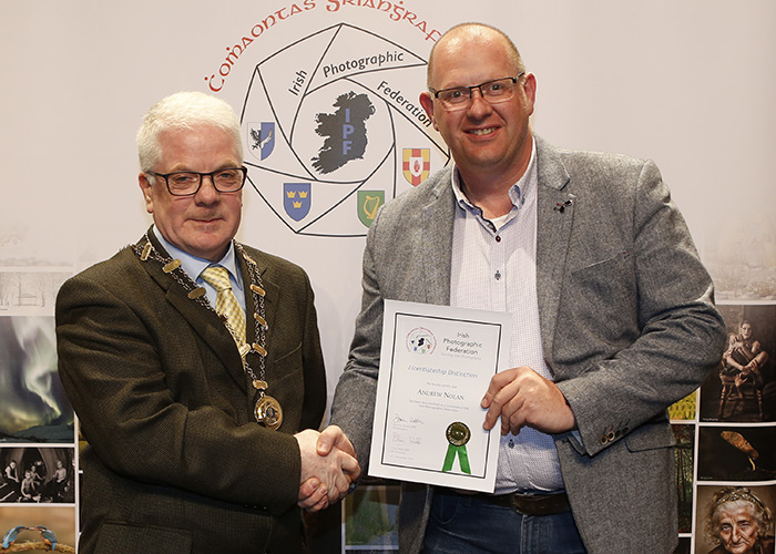 IPF-Vice-President-Liam-Beattie-presenting-Anfrew-Nolan-with-his-Licentiate-at-the-Sept-Distinctions-in-Carlow