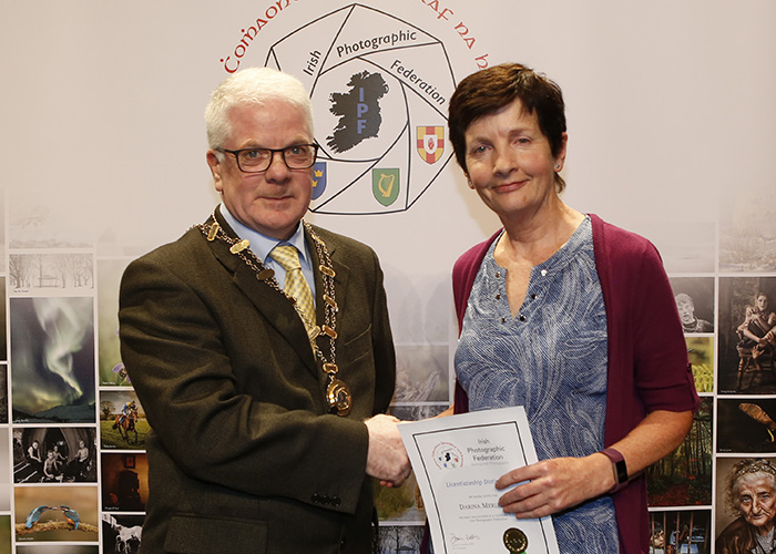 IPF-Vice-President-Liam-Beattie-presenting-Darina-Merlin-with-her-Licentiate-at-the-Sept-Distinctions-in-Carlow