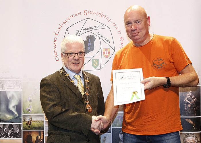 IPF-Vice-President-Liam-Beattie-presenting-Geard-Mulhall-with-his-Licentiate-at-the-Sept-Distinctions-in-Carlow