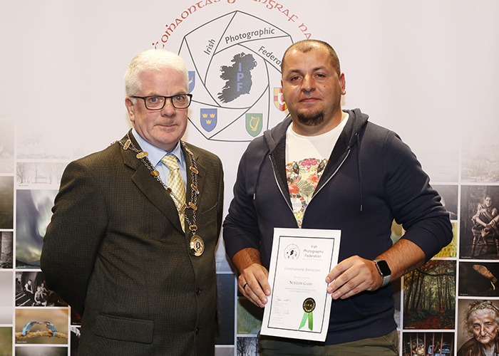 IPF-Vice-President-Liam-Beattie-presenting-Nuredin-Gashi-with-his-Licentiate-at-the-Sept-Distinctions-in-Carlow