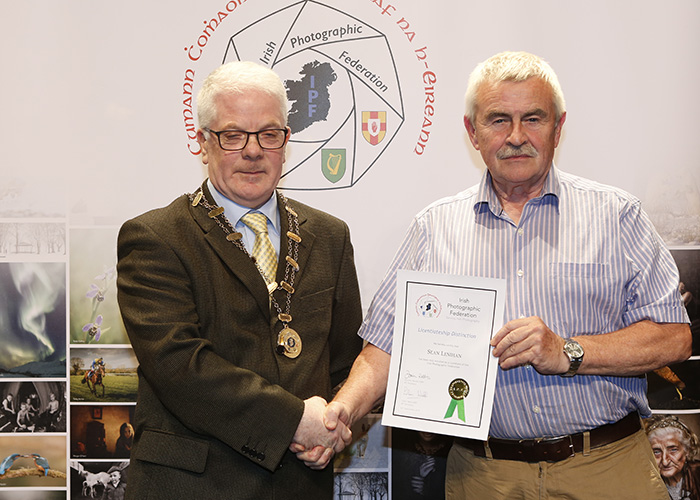IPF-Vice-President-Liam-Beattie-presenting-Sean-Lenihan-with-his-Licentiate-at-the-Sept-Distinctions-in-Carlow